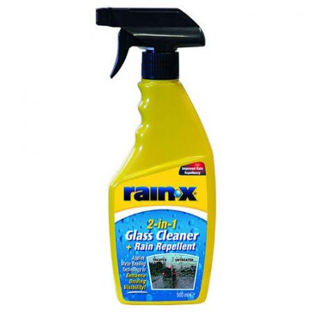 Spray bottle of 2-in-1 Glass Cleaner & Rain Repellent